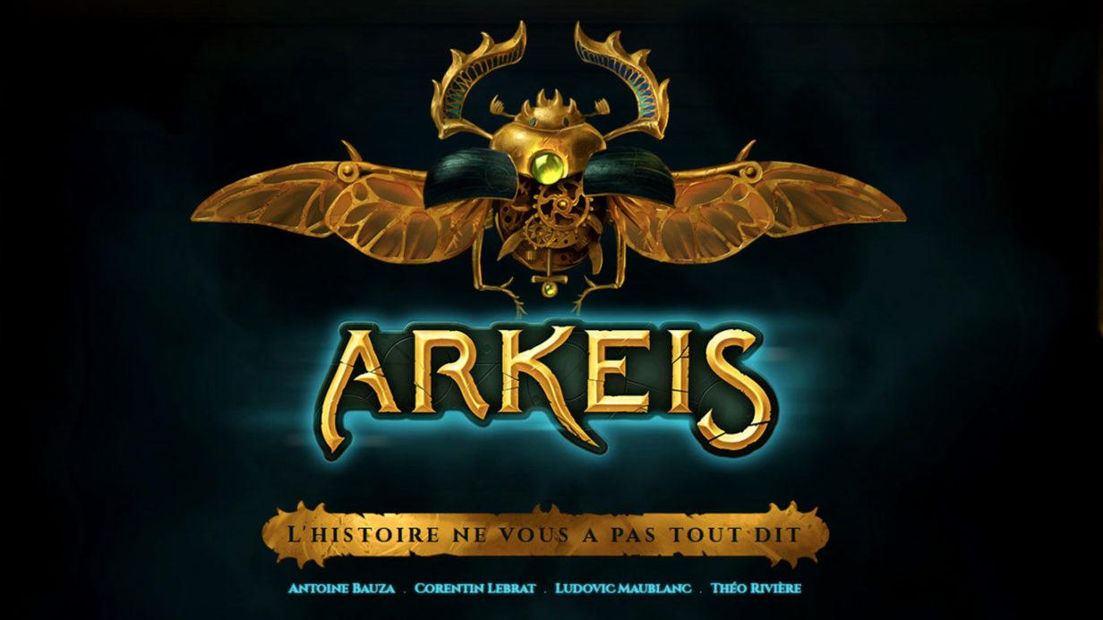 Page d'accueil du site du jeu Arkeis https://www.ankama.com/fr/boardgames/arkeis